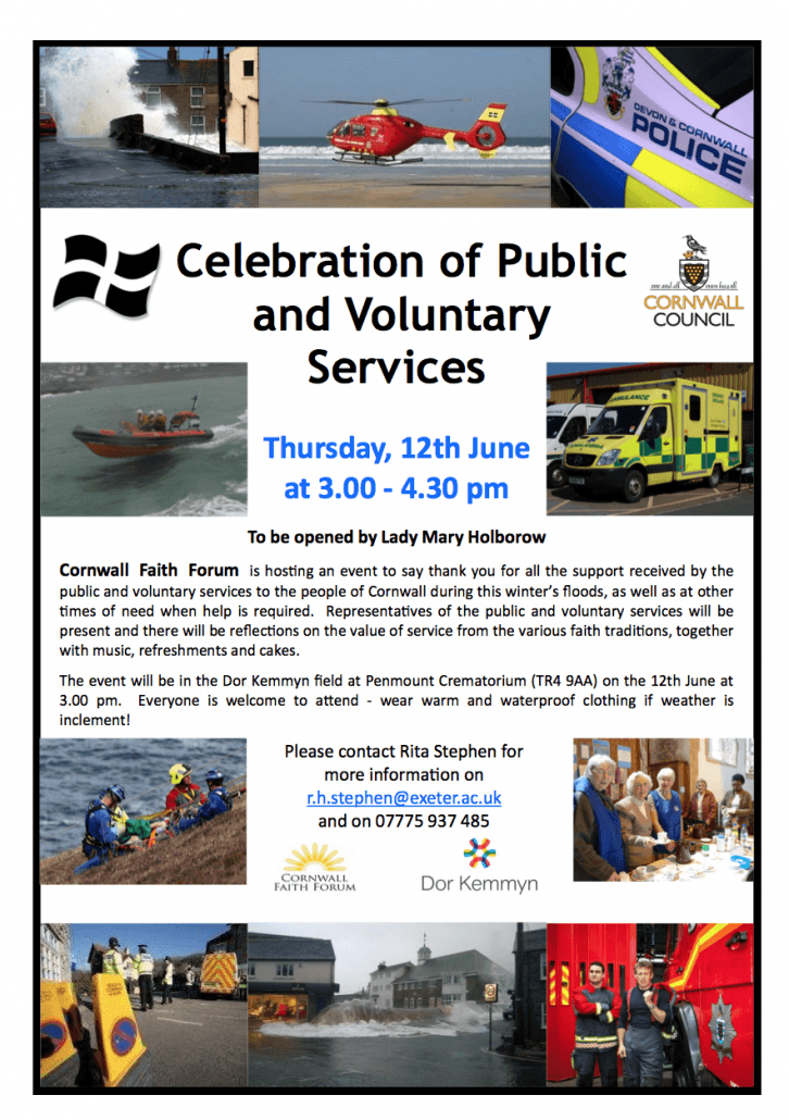 Celebration of Public and Voluntary Services